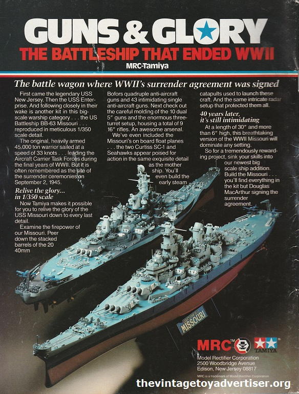 World War II Battleships by MRC-Tamiya. US. Fine Scale Modeller. 1986.