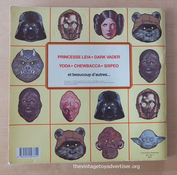 The Book of Masks. 1983. French edition. Back cover.