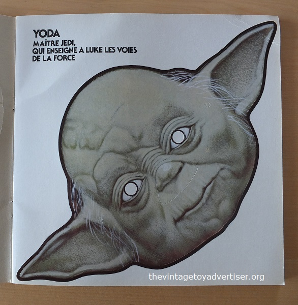 Mask #3. Yoda. Get with the wisdom, with the wisdom get.