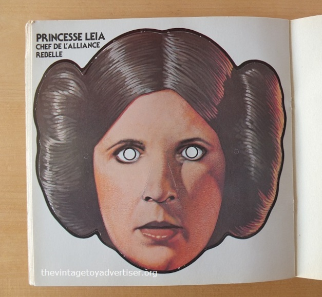 Mask #6. Beautiful, sassy, sexy, plucky, no-nonsense Leia. Bun-derful. But she looks so weird without her eyes and is starting to freak me out (but not as mch as Bib Fortuna).