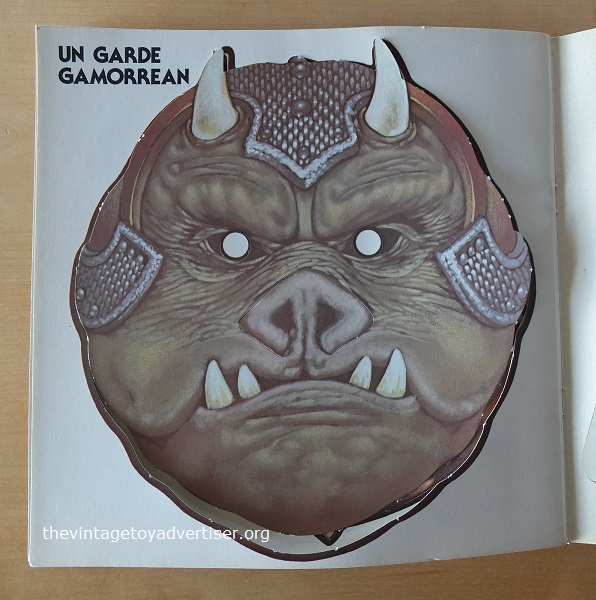 Mask #10. Gamorrean Guard. Yes! This is more like it! Stick this on and grunt and snort all you like. Keep away from Rancor monsters though!