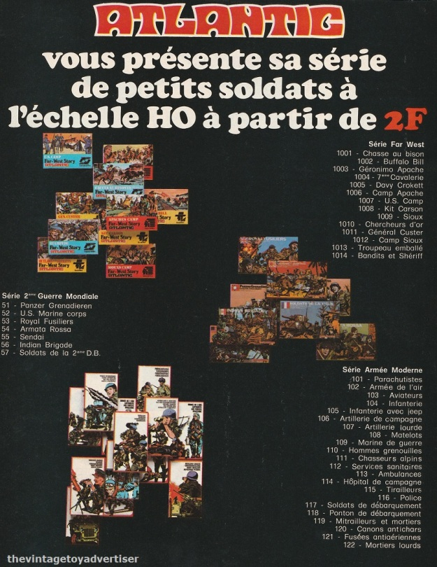 France. PIf Gadget. 1977. Left side of a two-page double ad.