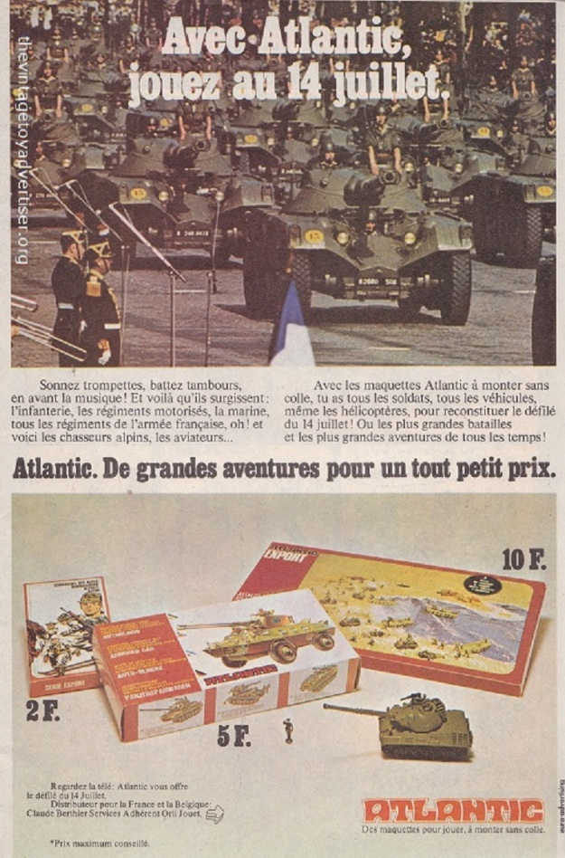 France. Pif Gadget. 1976. This 1976 French advert is a promotional tie-in for the French 14th July national celebrations.