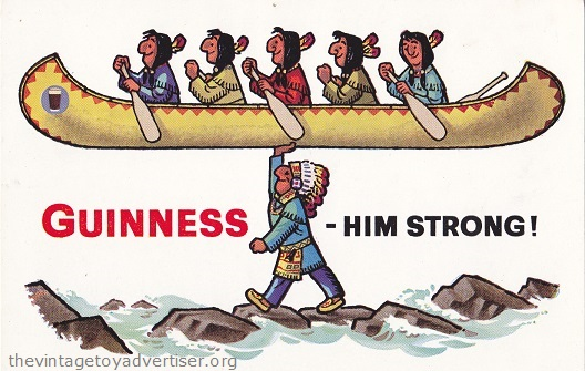Circa 1960s Guinness postcard.