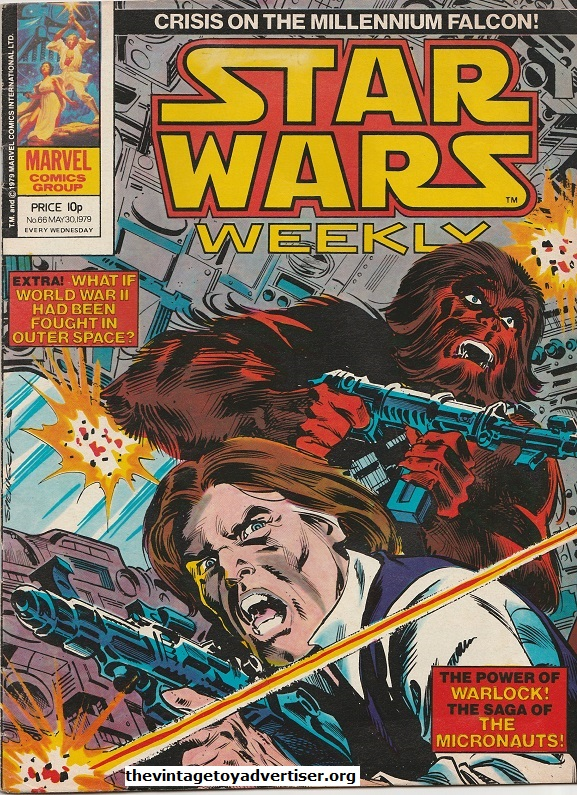 Star Wars Weekly N° 66. May 30. 1978. The follow-up to issue 65 and another Frank Springer cover featuring Han and Chewie in combat.