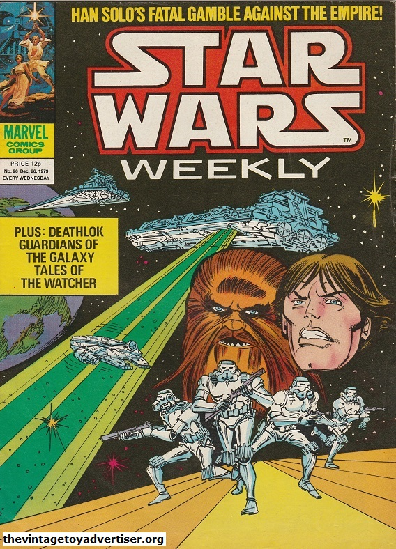 Star Wars Weekly N° 96. Dec 26. 1979. It's Han and Chewie again. For the artwork Infantino is joined by Pablo Marcos.