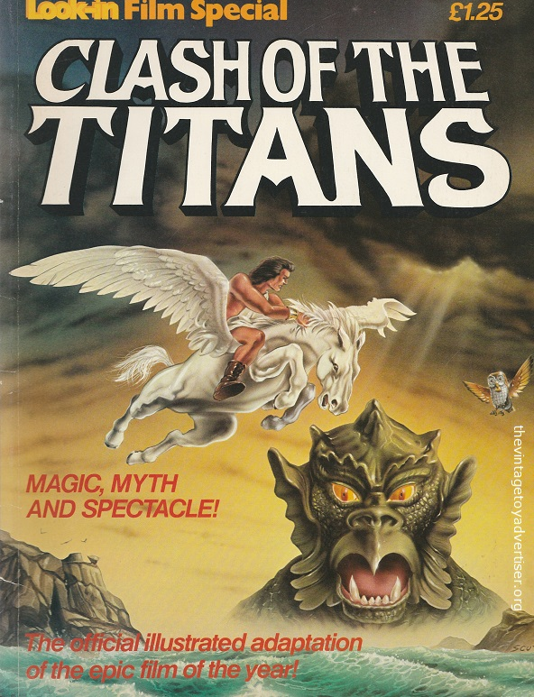 UK. Look-In Special. Clash of the Titans. Dan Spiegle cover. 1981.