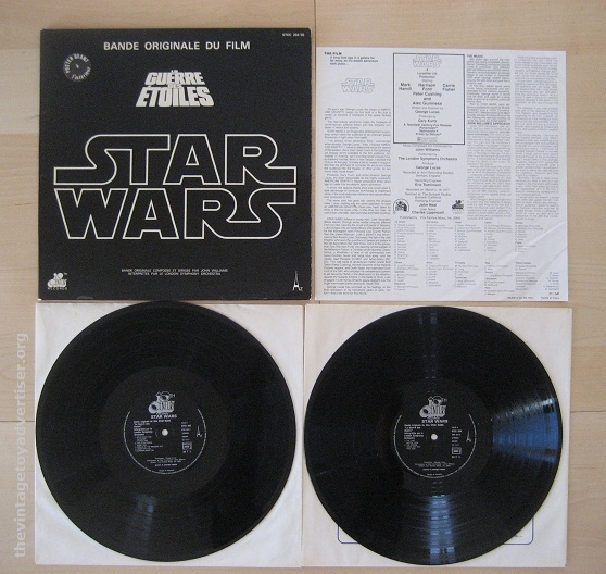 One of the first available recordings was the official soundtrack by composer John Williams. The album was released successfully worldwide and many editions contained a free poster.