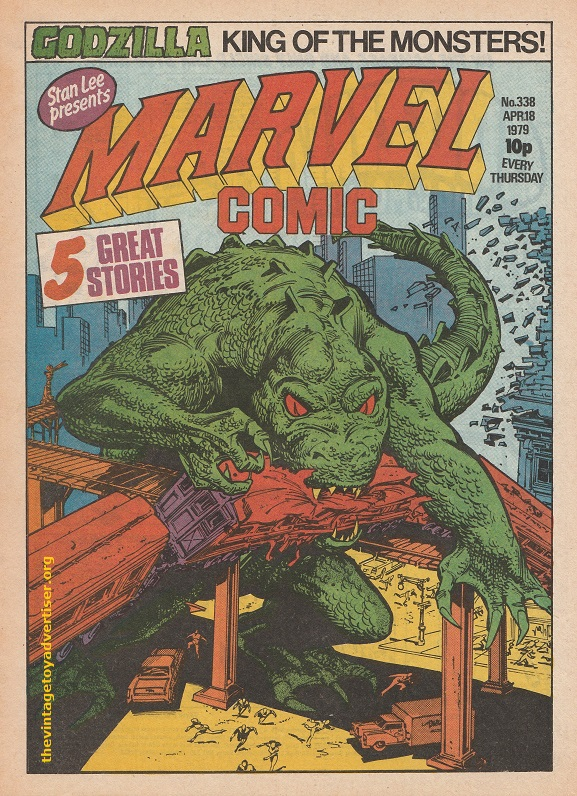 UK. Marvel. Marvel Comic 338. Herb Trimpe cover. 1979.
