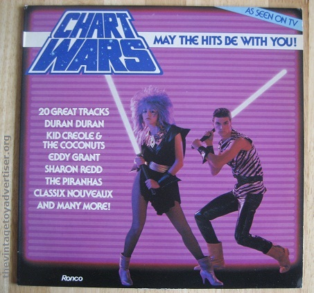 Star Wars knockoff... Chart Wars - May The Hits Be With You. UK pressing. Ronco. 1982.