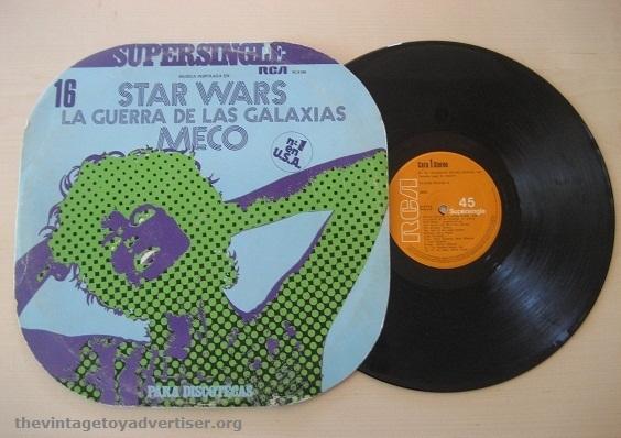 "Here's the Spanish pressing of the 12"" Meco Supersingle La Guerra De Las Galaxias. RCA 1977."