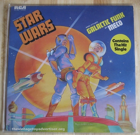 Star Wars And Other Galactic Funk by Meco. 1977. RCA. UK pressing. In contrast to the symphonic glory of the original soundtrack was Meco Monardo's Galctactic Funk verson. Meco went on to reimagine many of the Williams Star Wars themes with his own brand of disco funk.