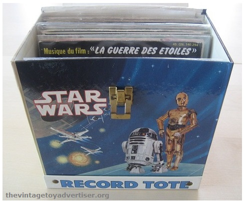 """The tote was ideal for storing the many 7"""" vinyl Read-Along storybook and record sets that were being produced at the time, as well as other singles."""