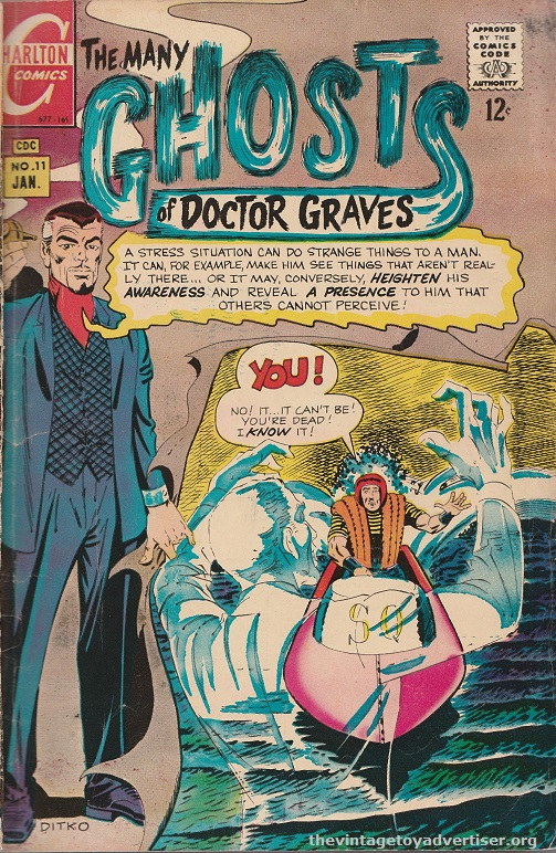 US. Charlton. The Many Ghosts of Doctor Graves. Steve Ditko cover. 1969.