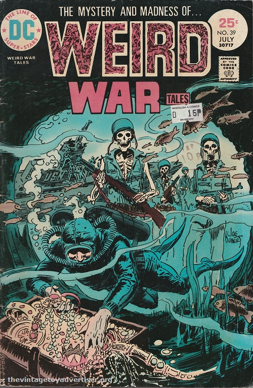 US. DC. Weird War Tales 39. Joe Kubert cover. 1975.