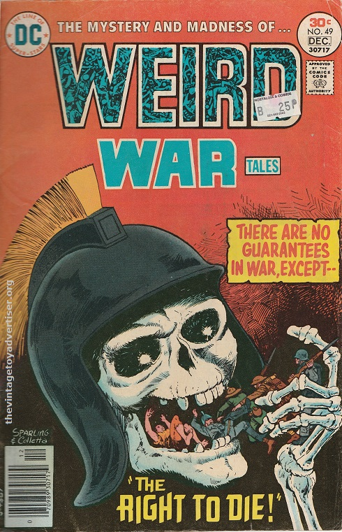 US. DC. Weird War Tales 49. Sparling and Colletta. 1976.