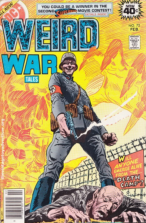 US. DC. Weird War Tales 72. Joe Kubert cover. 1979.