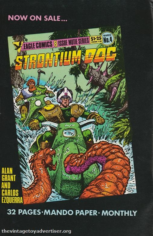 1986. Ad for Strontium Dog. Carlos Ezquerra.