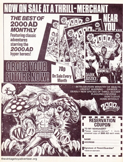 2000 AD Monthly. 1987.