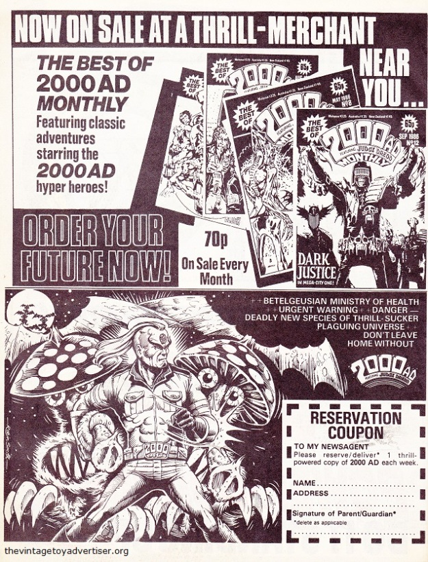 UK. 2000 AD Monthly. 1987.