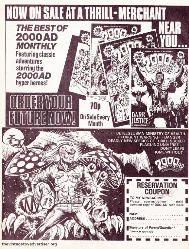 UK. 2000 AD Monthly. 1987.