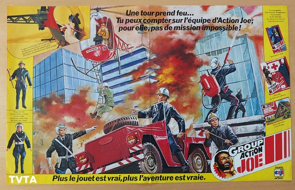 France. Pif Gadget. 1977. Another superb double-page artistic impression - this time it's fire-fighting and rescue action!