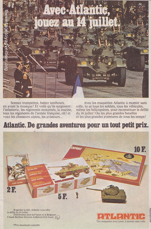 This 1976 French advert is a promotional tie-in for the French 14th July national celebrations.
