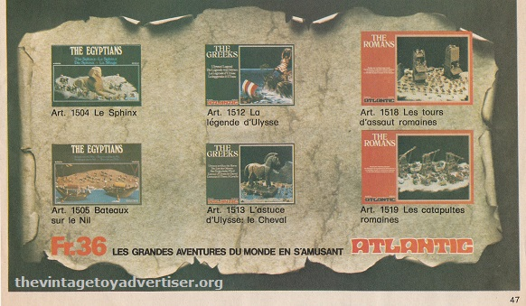 This 1978 ad not only features the Egyptian series but also sets from the Greeks and Romans series.