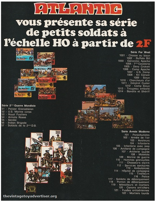 France. Pif Gadget. 1977. This is the second part of the double-page ad which shows other sets from Atlantic.