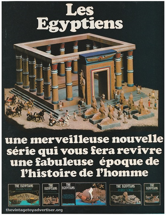 France. Pif Gadget. 1977. This advert is part of a double-page ad that promoted Atlantic's new Egyptian series. appeared as