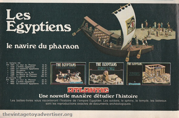 Another Egyptian series ad from a different edition of Pif Gadget. 1977.