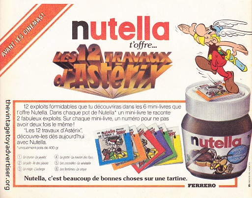 Offer: Six Astérix mini-books from promotional jars of Nutella. 1976. France.