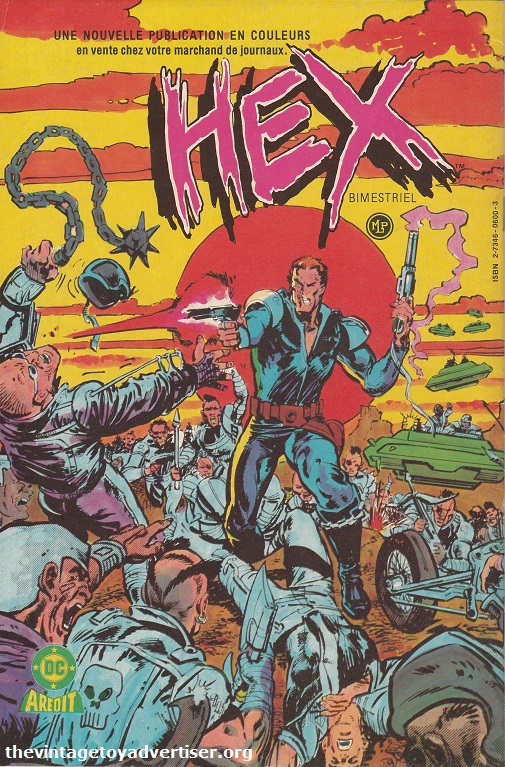 France. Judge Dredd 18. 1985. Legendary gunslinger Jonah Hex travels to the future in his latest adventure. Cover by Mark Texeira and Klaus Janson.