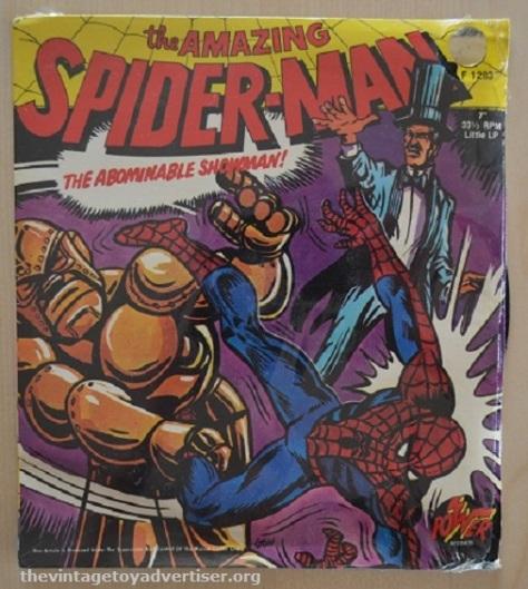 Spider-Man vinyl record from Power Records circa 1974.