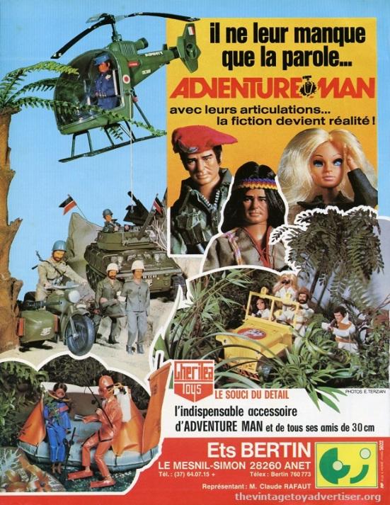 France. Jouets et Jeux catalogue page. 1978.