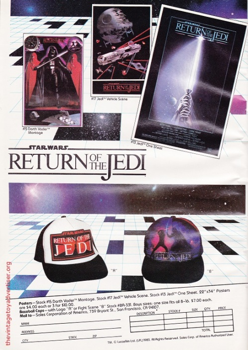 US. Starlog. 1983. ROTJ Merchandise.