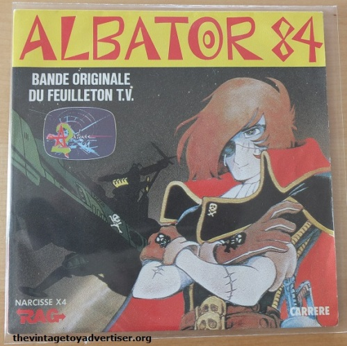 Albator 7 inch single. 1982. French pressing. Carrere.