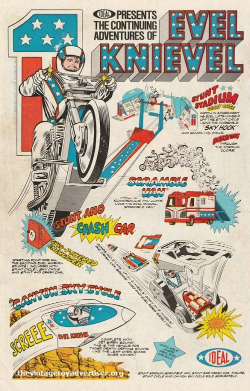 US. The continuing adventures of Evel Knievel. Justice League of America. 1975.