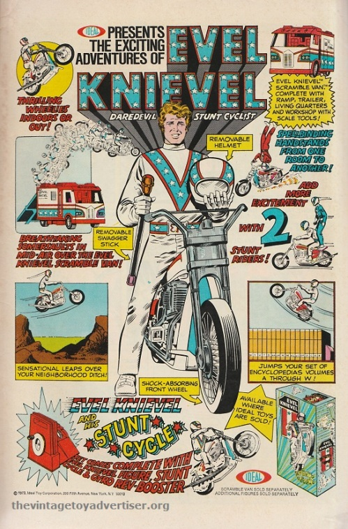 US. The exciting adventures of Evel Knievel. Weird Mystery Tales. 1974.