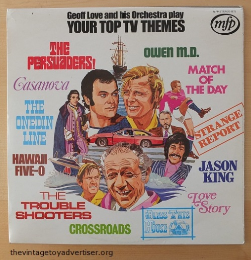 Geoff Love Top TV Themes. UK pressing. 12 inch album. MFP 1972.