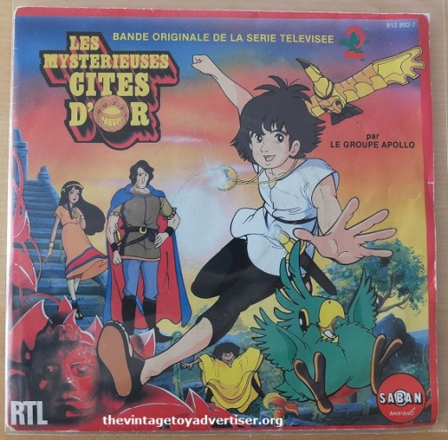 Les mysterieuses cites D'or 7 inch single. French pressing. Saban records. 1982.