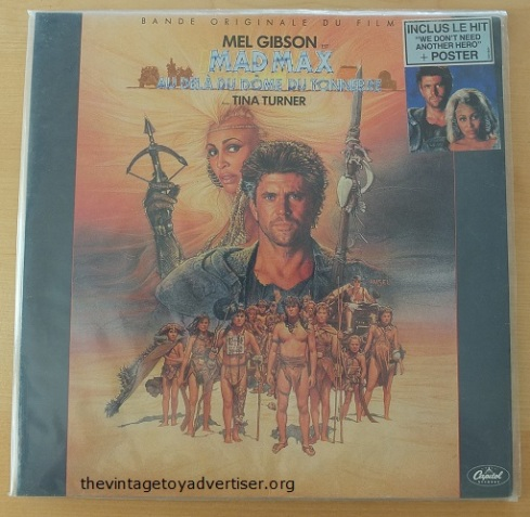 Mad Max Beyond Thunderdome 12 inch album. 1985. Capitol Records.