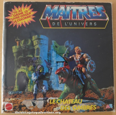 MOTU. 7 inch single and colouring book. Mattel AB. 1985.