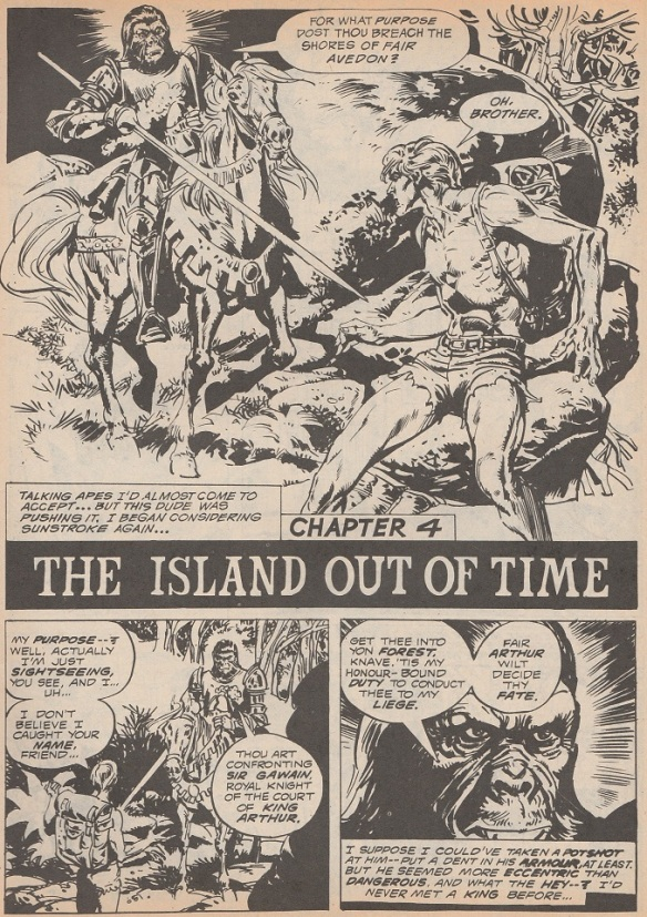 Page from Planet of the Apes The Island out of Time.
