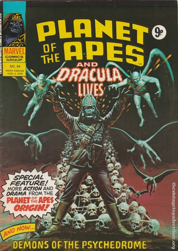 UK. Planet of the Apes and Dracula Lives. #94. 1976.