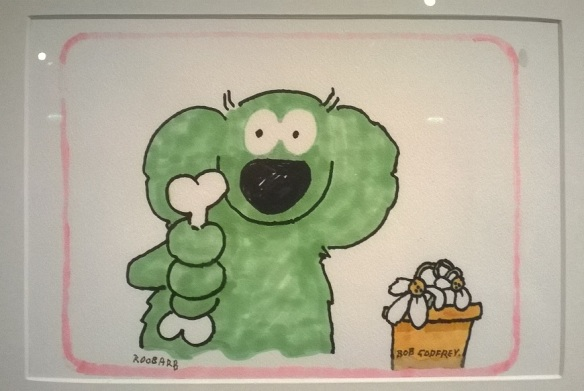 Roobarb animation cel.