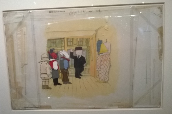 Mr Ben animation cel.