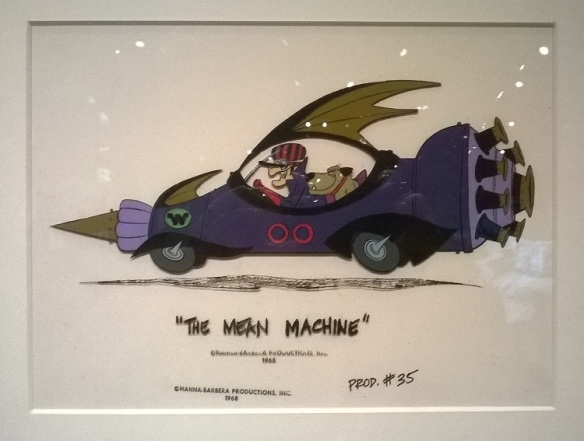 Dick Dastardly, Muttley and the Mean Machine animation cel.