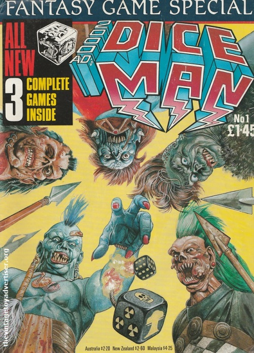 2000 AD Dice Man #1 cover art by Glenn Fabry.