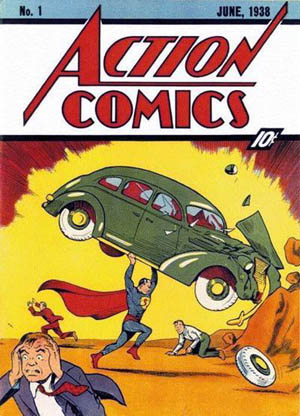 Cover of Action Comics 1 Jun 1938 DC Comics Joe Shuster and Jack Adler